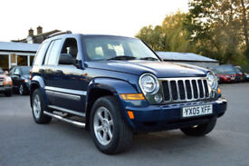 2005 FACE LIFT JEEP CHEROKEE 3.7 V6 4WD AUTO LIMITED DUAL FUEL LPG BLUE PX SWAP