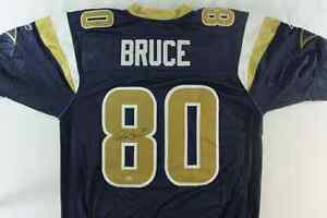 Isaac Bruce signed rams jersey with COA