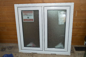 Frosted Glass Vinyl Frame Bathroom window - never installed