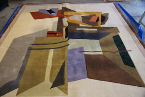 All wool area rug -- a fun & funky addition to any room