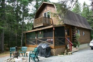 WELL MAINTAINED CEDAR CABIN and LOT