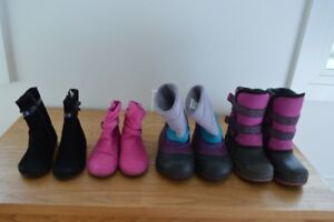 Girl Boots - Sizes 8, 9, 10 - $5 -$15/Pair