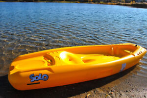 kids Solo sit on top kayak with paddle