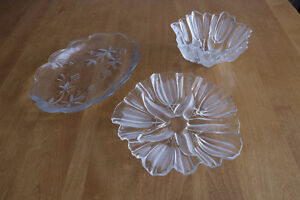 Glass Serving Platters & Bowls