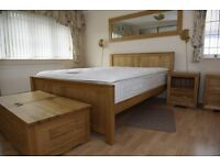 Solid oak king size bed from Oak furniture land