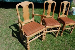 Dining chairs,  matched set of 8,  Antique