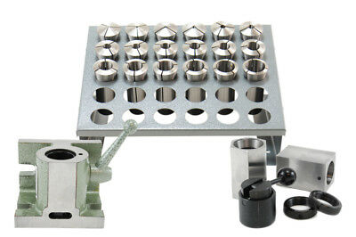 25 Pcs 5c Collet Set With 5c Block Collets Fixture