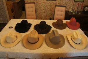 Cowboy Hats, Stetson/Smithbilt/& others, mostly 6 7/8 size