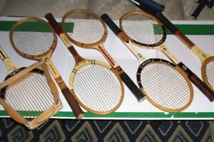 """VINTAGE WOOD AND METAL """"SIGNATURE"""" TENNIS RACKETS FOR COLLECTORS"""