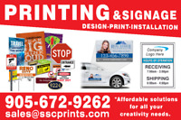 ★PRINTING SERVICES/LARGE FORMAT/ SIGNS /CUSTOM DESIGNS★