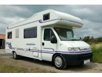 Lunar Roadstar 726 large family motorhome, 6 berths, 4 seatbelts, exceptional!