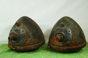 Vintage Tractor Lights - Rustic Farm Goods - Pair of Rusty Tract London Ontario image 4