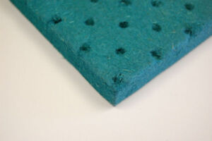Acoustic soundproof wood fibre panel