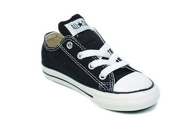 CONVERSE CHUCK TAYLOR BLACK /WHITE LOW TOP CANVAS FOR BABY AND TODDLERS ](Chuck Taylors For Toddlers)