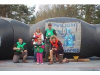 Quasar inflatable laser shooting game