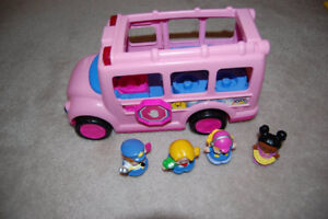 Little People Pink Musical Sounds School Bus