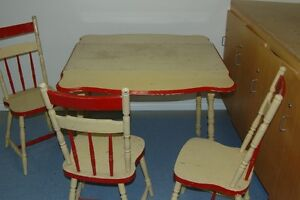 table and chair set from the 50's or early 60's