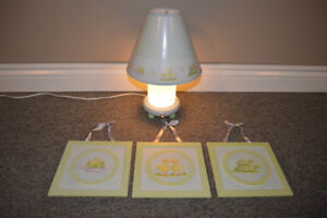 Baby Nursery Lamp and Matching Wall Art-More Items!Delivery