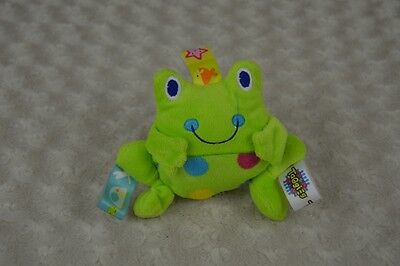 Taggies Frog Plush Stuffed Animal Rattle Toy Green Dots Mary Meyer Baby 4.5""