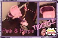 Pink and Purple Tricycle