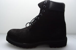 NEW TIMBERLAND 8US MENS BLACK 6IN PREMIUM BOOTS REG $200