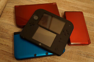 3DS systems for sale - including game casettes