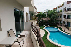 2 br modern condo with pool downtown playa del carmen