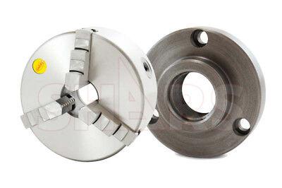 Shars 4 3 Jaw Self Centering Lathe Chucks W Cert. Tir 1-12-8 Back Plate New