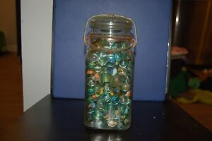 Vintage Canning Jars With with Marbles and some loose Marbles London Ontario image 1