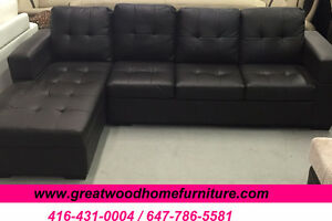 BRAND NEW SECTIONAL SOFA BLACK OR CHOCOLATE...$499