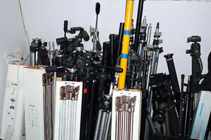 Various Tripods and Monopods