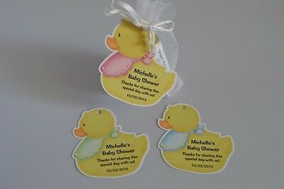 UNIQUE PERSONALIZED RUBBER DUCK THEME BABY SHOWER PARTY FAVOR GIFT TAGS](Rubber Duck Themed Baby Shower)