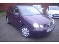 2002 Volkswagen Polo 1.2 ( 55bhp ) 9 service stamps+low insurance+nice miles