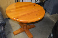 WOOD TABLE |  pedestal legs  |  great condition!
