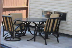 5pc Patio Dining Table Set