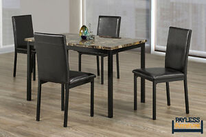 NEW ★ Dining set ★ Faux Marble Top ★ 5 Pcs ★ Can Deliver