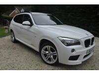 BMW X1 X DRIVE 1.8 M SPORT 5 DOOR * WHITE,FULL BLACK LEATHER*MEGA SPECIFICATION*