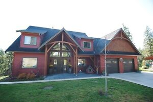 Acerage Timber Frame Home with Shop,5 view acres,Salmon Arm, BC