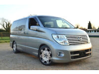 FRESH IMPORT LATE 2005 FACE LIFT NISSAN ELGRAND V6 AUTOMATIC 8 SEATER GREY