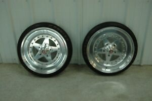 Dragster front rims and tires