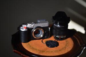Cameras film et digital : Leica CL, Lumix GX8, sacs photo