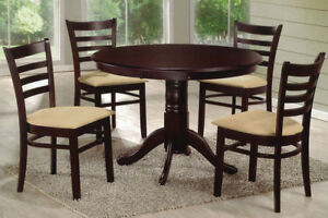 NEW ★ 5 / 7 Pcs Dinette ★ Solid Wood ★ Can Deliver