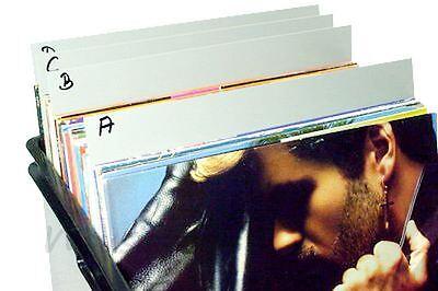"30 LP Register für 12"" Vinyl Schallplatten Regal Trennwand zum Beschriften, grau"