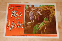 WAR OF THE WORLDS ORIGINAL 1953 LOBBY CARD SCIENCE-FICTION