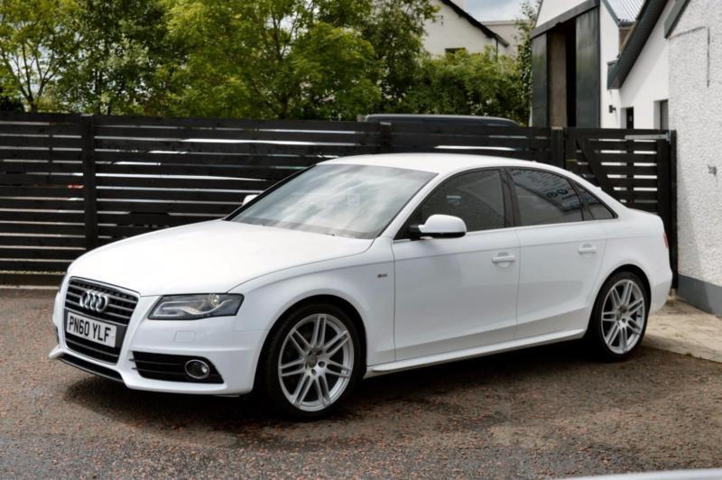 2010 Audi A4 S Line Special Edition Ibis White Fash 2 Keys