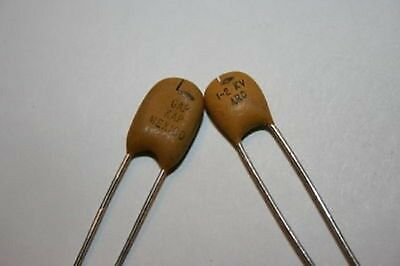 2 pcs SPARK ARC GAP CAPACITOR 1-2 KV 0.75PF GAP KAP