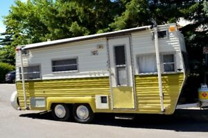 1970 remodeled trailer - with custom crib