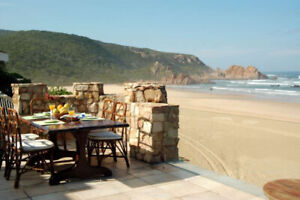 South Africa on the beach castle with ocean view near to Knysna