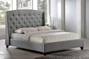 MI..GORGEOUS UPHOLSTERED FABRIC HEADBOARD/BEDS ON SALE NOW
