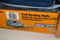 Coil Roofing Nails, ALMOST full box